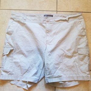 Eddie Bauer Khaki Cargo Shorts 18W